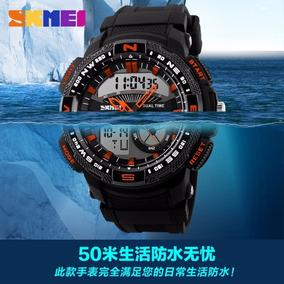 Relógio Masculino Sport Militar Quartzo Digital Skmei Top