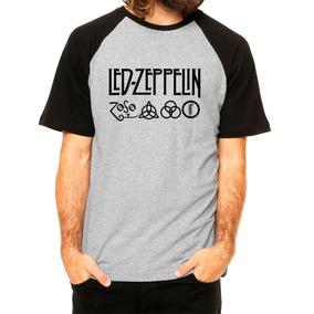 e4e61e465 4 Rock Camiseta Raglan Led Zeppelin 3 - Camisetas Manga Curta para ...