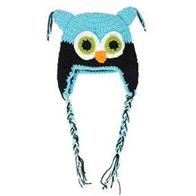 Gorro Para Bebe Crochet Buho Azul Y Rosa