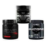 Beast Pre Treino + Bcaa 10:1:1 + Glutamina 300gr