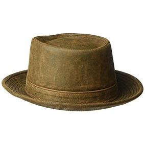 6242319f2ea28 Sombrero Porkpie De Cuero Suave Para Prendas De Vestir De He