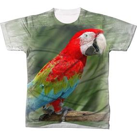 Camisa Camiseta Blusa Ave Passaro Arara Vermelha Brasil 3 3606887a16872