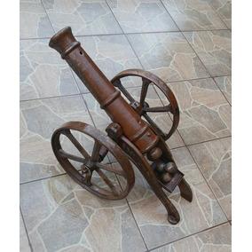 Canhão Ferro Fundido Decoração Antiguidades Guerra