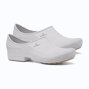 Sapato Profissional Antiderrapante Fujiwara Moov Branco