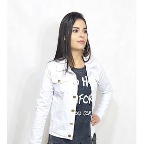 e27148f4a Jaqueta Jean Feminina Branca Barata - Calçados