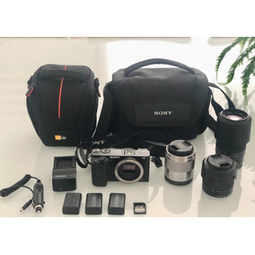 Camera Mirorless Sony Alpha 6000 + Lentes + Acessórios!