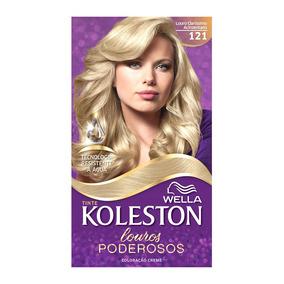 Coloração Creme Koleston Kit Louro Claro Acinzentado 121