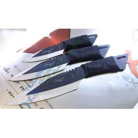 Set De 3 Kunais Con Funda-fulltang Lanzables Cuchillos 8930