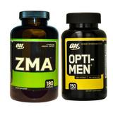 Combo Zma 180 Cápsulas + Opti-men 150 Tabs Optimum Nutrition