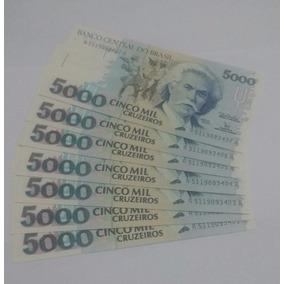 C 220 Cédula De 5000 Cinco Mil Cruzeiros Flor De Estampa