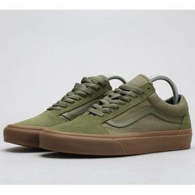 9aac6cc72 Tenis Vans Old Skool Gamuza Liga Verde Militar Winter Moss