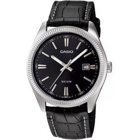 Relógio Casio - Mtp-1302l-1avdf - Leather Strap - Black Dial