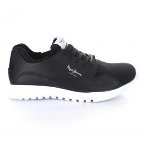 Tenis Para Hombre Pepe Jeans 01 Btn-050456 Color Negro