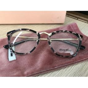 Armacao De Oculos Miu Miu Cat - Calçados, Roupas e Bolsas no Mercado ... 326657c25e