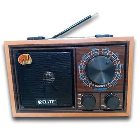 Rádio Estilo Retrô Analógico Elite El-86uar C/ Fm/am/sw/usb