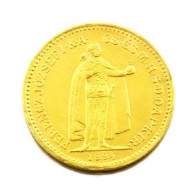 10 Korana 1894 Franz Joseph I Em Ouro 22k Hundria M0773