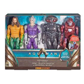Figuras De Acción Dc Aquaman 4 Piezas 30 Cms