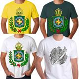 Camisa Camiseta Do Brasil Império Brasão Kit Com 4 Camisetas a6f57ead3fdc3