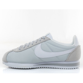 cheap for discount de7cd 3ea85 Nike Cortez Classic Nylon Grey Platinum White- Mujer