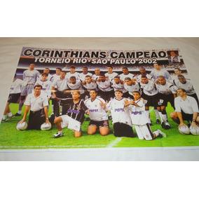 Poster Corinthians 2002 Campeão Torneio Rio São Paulo