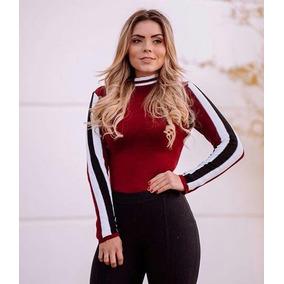 78b23f71e Colete Vermelho Listrado Com Gole Body Feminino - Camisetas e Blusas ...