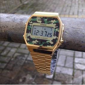 6cffc5fc5d1 Relógio Casio Dourado Camuflado - Relógio Casio no Mercado Livre Brasil
