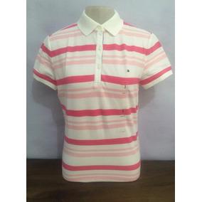 f99dbc4f6c Camisa Pólo Feminina Tommy Hilfiger Listrada 100% Original