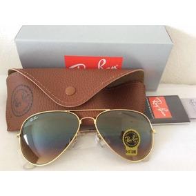 fb2b4ed459d65 Óculos De Sol + Ray Ban Top Aviador + Marrom Degradê Luxo Ta