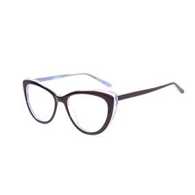 2867bfb83efe8 Armação Óculos Grau Feminino Roxo Lilas Gatinho Pinup Jc6289 · R  99 99