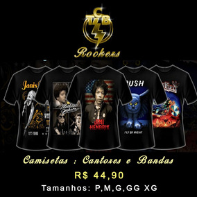548f2d5070 Camiseta Rock Masculinas E Femininas
