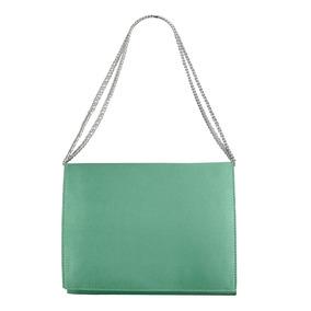 Bolsa De Festa Verde Agua Clutch Ciano Tiffany Bolsa De Mão