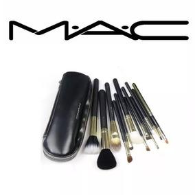 60fe342e1 Pinceles Profesionales Mac + Estuche __ __set 12 Brochas - Brochas ...
