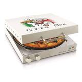 Pizza Grill Box Elétrica Para Assar Na Hora Maleta + Brinde