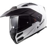 Casco Moto Ls2 Ff324 Abatible Metro Evo Blanco Negro