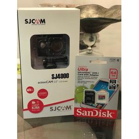Câmera Sj4000 Full Hd A Prova D´água + Cartão De Memória