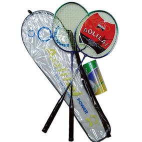 Juego De Badminton Set 2 Raquetas + 2 Plumas