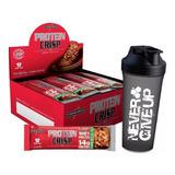 Protein Crisp Bar Cx 12 Un - Integral Médica + Shaker Brinde