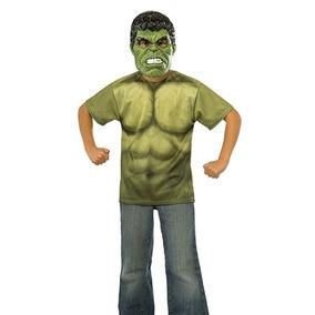 Mascara Y Camisa Halloween Super Heroes Hulk
