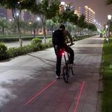 Lanterna Traseira A Laser 5 Led Bike Pronta Entrega