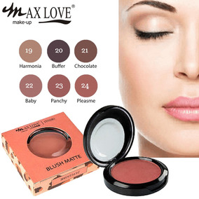 Kit 2 Blush Matte Max Love Maquiagem Rosto Escolha Cores