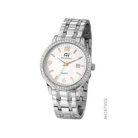 Relógio De Pulso Aço Ana Hickmann Feminino Ah28795q