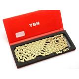 Corrente 11 Velocidades Ybn Gold Dourada Vazada 116link 260g