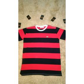 f7ea11ea7b2a3 Camisa Lacoste - Camisa Casual Manga Curta Masculinas Vermelho no ...