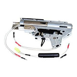 Gearbox Airsoft Aps Silver Edge Blowback Frontal V2 M4 Aeg