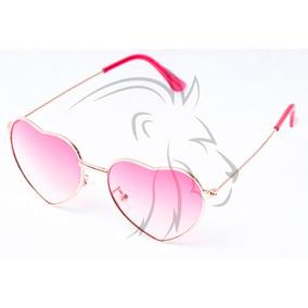 8d185c9f53e73 Oculos De Sol Cor Rosa Formato De Coraçao - Óculos no Mercado Livre ...