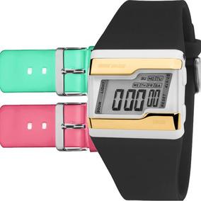 Relógio Mormaii Feminino Troca Pulseira 3 Cores Fzv/t8q