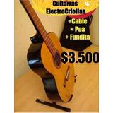 Guitartas Criollas Clasicas (electro Criollas) + Accesorios