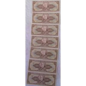7 Cédulas De 20 Cruzeiros Sem Circulação Sequencial