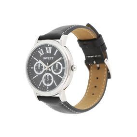 Reloj Sweet 7309 Negro Cuero Acero Gtia 12 Meses Tienda Ofic