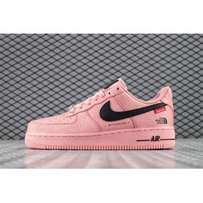 Zapatos Nike Force One Af1 X Supreme Rosados